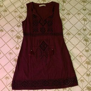 Abercrombie&Fitch maroon and black beaded dress
